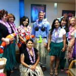 Hawaii Day for #Gilbert feeding families food drive means @Gilbert_Manager Patrick Banger has to dress up! http://t.co/MMAes6DaLv