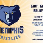 I have proclaimed Friday, May 24 as GRIZZLIES FRIDAY! Wherever you are, wear your team colors and attire!! http://t.co/0Th9S1UoJo