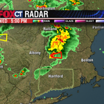Tornado Warning for Franklin Co in MA. So far, so good in CT. Most instability north & west of the state into tonight http://t.co/iktSTVPNKN