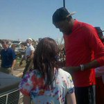 [@SportsCenter @KDTrey5 in Oklahoma City meeting those affected by tornado http://t.co/ZzGBrHQ6Ya] durant = true pro. star of the superstars