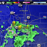 A few showers and a little lightning over Denver as storms move in from the southwest! A radar update #9news #9wx http://t.co/5psuk37AMq