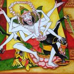 "Amazing  >-o-> ""@keshav61: On the occasion of Narasimha Jayanthi today. Hiranya vadham. Watercolour. (Panchavarnam) http://t.co/jwbe9SdjAQ"""