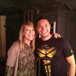 WOW! Youre doing well boy RT @Trevornoah: .@LisaLampanelli the queen of roasts came to my show today. Such an honour http://t.co/XmTEhovVPc