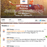 Oh dear.  RT @DawnHFoster: Well, EDF's twitter feed is a mess right now.