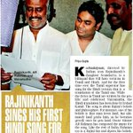 #Rajinikanth sings his 1st Hindi song for @arrahman. #Kochadaiiyaan @sound_a_rajini @RIAZtheboss @ErosIntl @aditi1231 http://t.co/bNNls6FCaZ