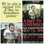 RT to win a SIGNED 6ft @WhereisADTR poster. Winner announced tonight 6.30pm http://t.co/I6SQkRg4XI