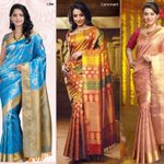    ? Who Looks Superb in Saree? @anushka__shetty @trishtrashers @ihansika