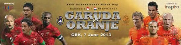 Timnas Indonesia vs Timnas Belanda, Jumat 7 Juni 2013, SUGBK, Jakarta #Timnas http://t.co/kG3tJsDVXR