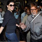 Spotted: @SrBachchan and Sushmita Sen at the airport. - http://t.co/KjsuoVIr6H ::