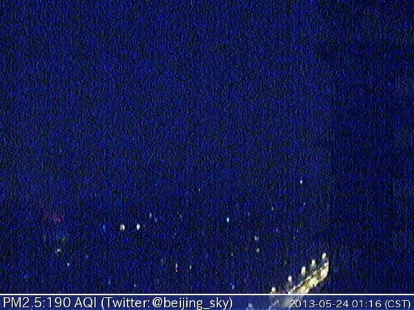 Now Beijing PM2.5 is 190 AQI 軽度汚染 - Unhealthy