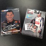 NASCAR playing cards? Yep. Bicycle Brand is sponsoring @landoncassill for CLT and Dover. http://t.co/j1WqGvAEVM
