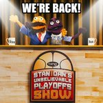 Stan & Dan, Bing's basketball-loving puppets, are suiting back up for the playoffs. #BelieveIt http://t.co/CdcsHsGymq