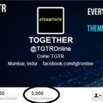 RT @kunal_musicess: A family of 3000 members !! Congrats @TGTROnline :D #TGTR66 @nikhilchinapa @djnawed