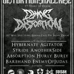 Enemy Of judas now on stage!!! 5th years of doom @DYINGDISTORTION | http://t.co/2r8fN5M15E