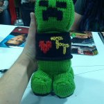 This creeper plushie loves #Tabletop and I get to own it! Forever! To have!