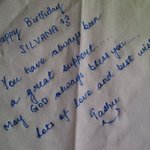 Personally written b'day wish specially for @sillijo ... Have a great b'day ☺
