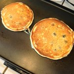 Every mom deserves blueberry pancakes. Happy Mother's Day to all the awesome Moms out there.