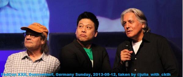 #Voyager Panel @fedcon Ethan Phillips and Garrett Wang awaiting an interesting question for Robert Beltran... http://t.co/WwUXhmHG7o