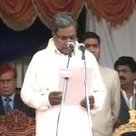 Siddaramaiah sworn in as the 22nd Chief Minister of Karnataka. The ceremony was held in a stadium in Bangalore.