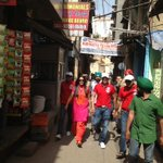 Team #rangeelay in the streets of Amritsar ... @RangeelayFilm @jimmysheirgill