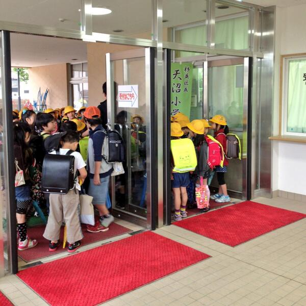 At Tokyo public school, lines of students greet in unison and bow to one another and to the teacher before entering. http://t.co/fIcNo90gqV