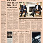 Here's a sneak peek at the front page of the UK Financial Times - Tuesday, May 14
