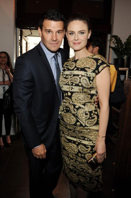 .@David_Boreanaz and @emilydeschanel at the #FOXupfront today in NY. http://t.co/cMGCMufu5R