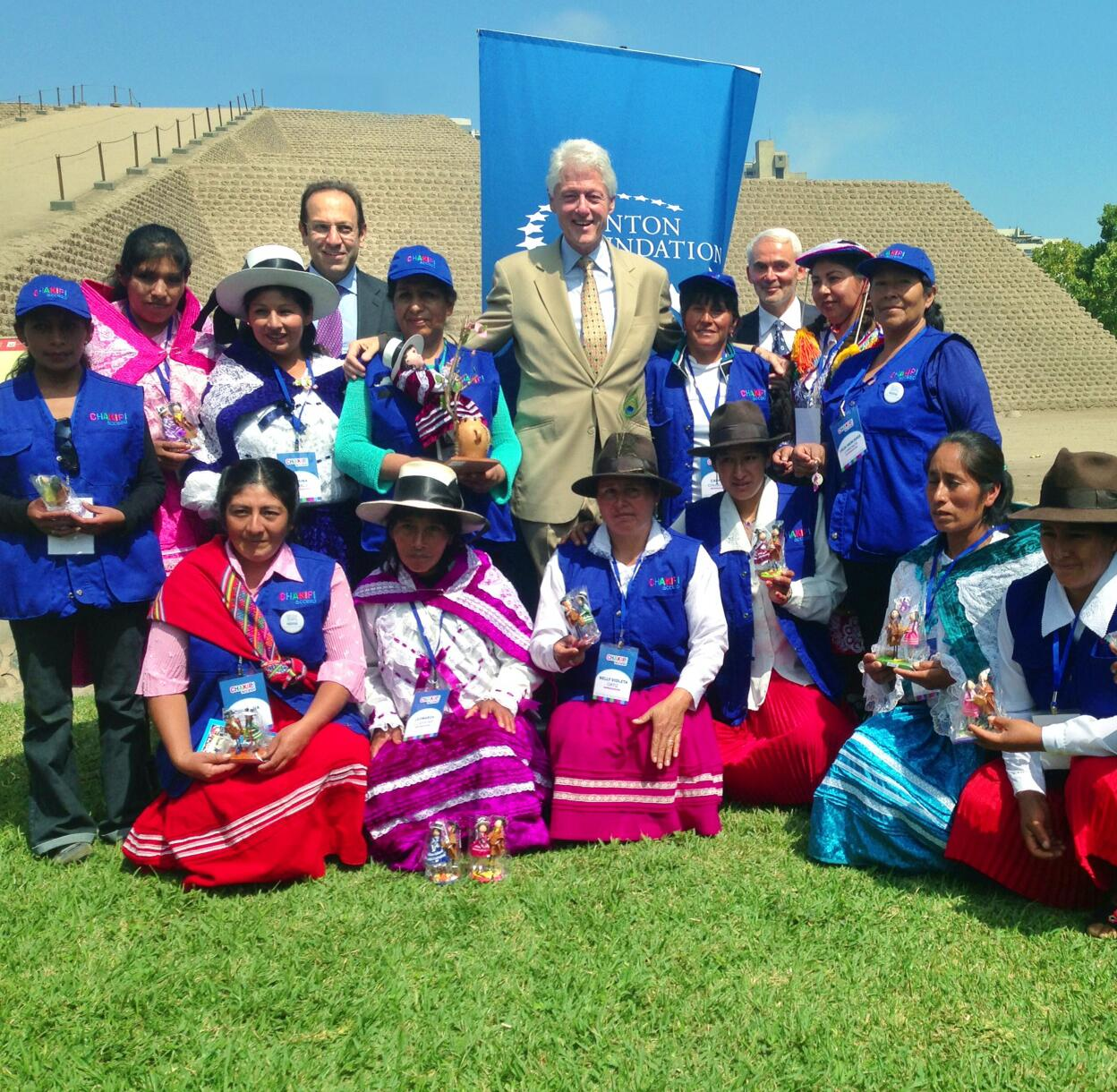Proud that @ClintonFdn work in Peru will help women entrepreneurs increase their incomes & support their families. http://t.co/SuRrfQIw8d