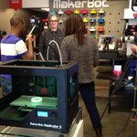 RT @makerbot: Filming with @bre @cnn at #makerbotstore #nyc today.
