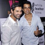 RT @sillijo: #ShootoutatWadala Success Bash with @sonusood18 & @The_JohnAbraham 2 handsome Guys :):):)
