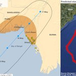 RT @BBCNewsGraphics: MAP: Predicting the path and storm surge of #cyclone #mahasen http://t.co/3iIlmtDhgt