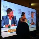 Vidya Balan at the jury press conference...beamed across festival town on giant screens. #cannes2013