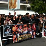 Amitabh Bachchan's fans fm UK & Egypt hope to catch AB as he walks the red carpet for The Great Gatsby #cannes2013