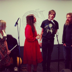 Thanks @RoseWindowsBand for stopping by our Oakland office on Monday!
