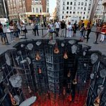 RT @ThatsEarth: Chalk Art, Dark Knight Rises Street Art in Madrid.