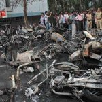 Bikes gutted in Hyderabad fire: In Pictures |  http://t.co/pGzLu98Hty  -