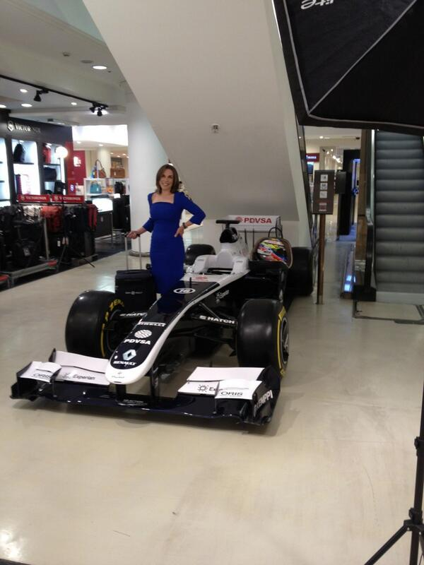 Our very own Claire Williams is here @Selfridges London for the @DomReillyLtd launch as well! #F1 http://t.co/luI7k5gfkU