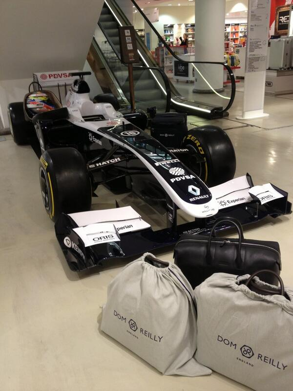 We're here in @Selfridges on Oxford Street, London, this morning at the launch of @DomReillyLtd! #F1 http://t.co/Ejvuc0uYEw