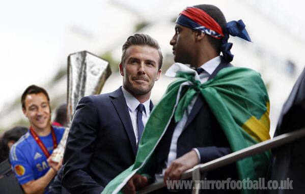 BREAKING PICTURES: David Beckham's retirement announcement interrupted by unknown intruder http://t.co/08670bTqFf