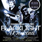 #BlacklightWeekend TONIGHT & Saturday @HammerjacksSJ!  Hosted by DJ Soundninja & MC Tres!  ALL YOU CAN DRINK! http://t.co/01y4kRNBkI