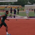 Jeremie Tyler clears 64 & is still alive in the High Jump at Ben Davis Regional. New personal best. http://t.co/07pahhUtGm