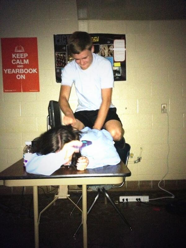 Just gettin abused in yearbook! @brysonc10 http://t.co/CfxPZRNIlN