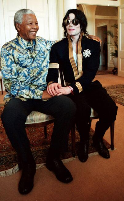 Friendly Friday: Michael Jackson and Nelson Mandela http://t.co/V0WZSif9gs