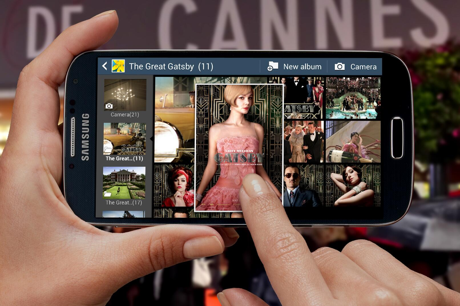 Re-living the excitement of #Cannes2013 and the @GatsbyMovie premiere with #AirView on the #GALAXYS4. http://t.co/581d2d3xD5