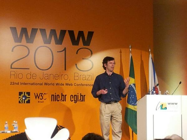 Love this photo from WWW 2013 #www2013 @www2013rio [pic] --