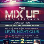 RT 3rd Friday every month starts June @JusFamEnt presents The Mix Up @LexingtonLevel 2 sides 2 DJs ladies free b4 11 http://t.co/sFylikNvPo