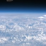 RT @Cmdr_Hadfield: Todays photo is of the rising Moon. How could anyone have ever thought the world was flat? http://t.co/l4Zt4pqTxo