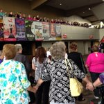 Pic of Sweet Adelines group sing earlier today! Check out the competition this weekend at the @INBPAC #Spokane http://t.co/0uxZCEJHVZ