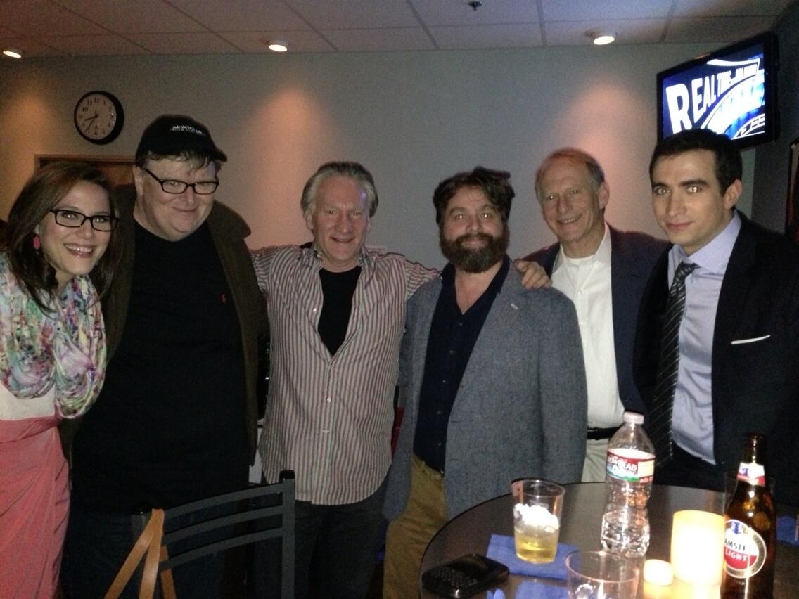 Michael Moore, Zach Gallifinakas, S E Cupp, Andrew Ross Sorkin, Richard Haas from tonight's Real Time http://t.co/nNOQELTn4s