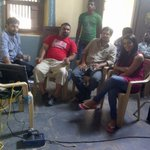 Reporting live frm the sets wid Hero- Ramki, Dir of this film- Mahesh Kathi n a vry senior Director- N Shankar garu ☺